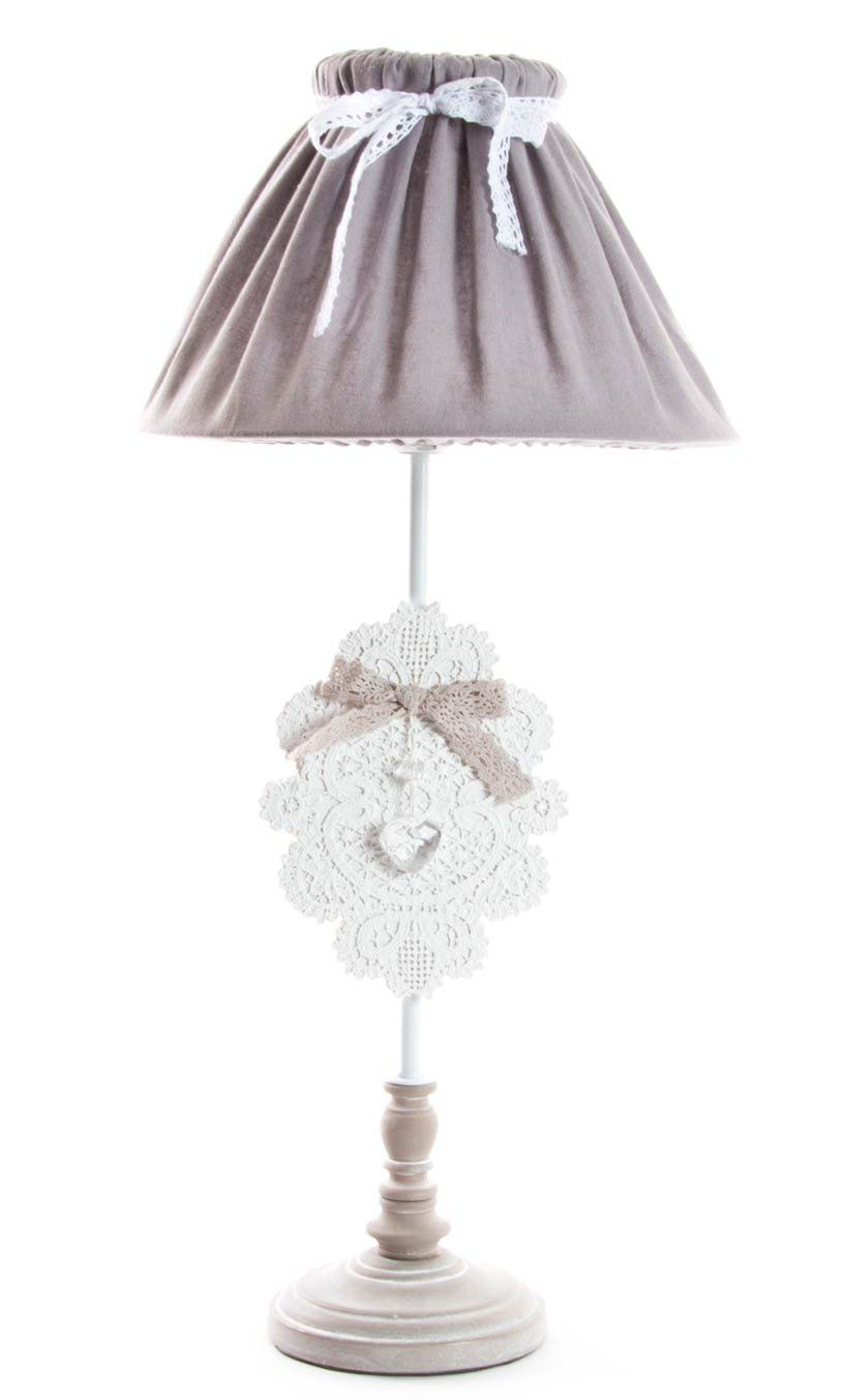 lampada da comodino romantic 4 shabby chic lampadari lampade. Black Bedroom Furniture Sets. Home Design Ideas