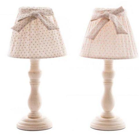 Lampada da Comodino ROMANTIC 6 Shabby Chic Lampadari - Lampade
