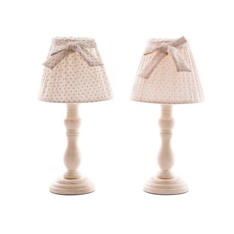 Lampada da comodino romantic 6 shabby chic lampadari lampade for Lampade da comodino particolari