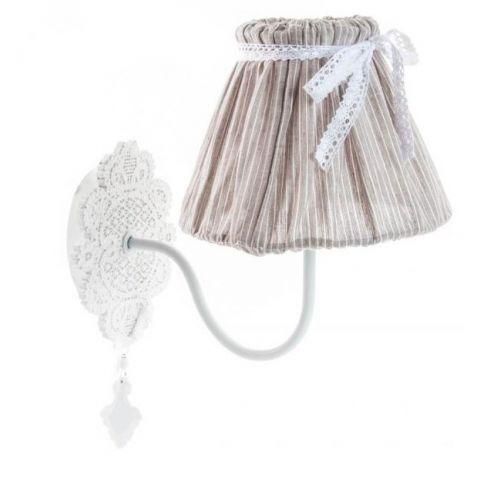 Applique da muro shabby chic romantic 1 lampadari lampade - Abat jour da parete ...