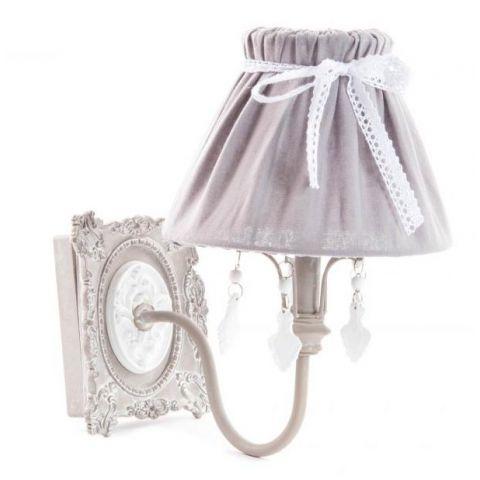 Applique da muro shabby chic romantic 2 lampadari lampade for Applique da muro