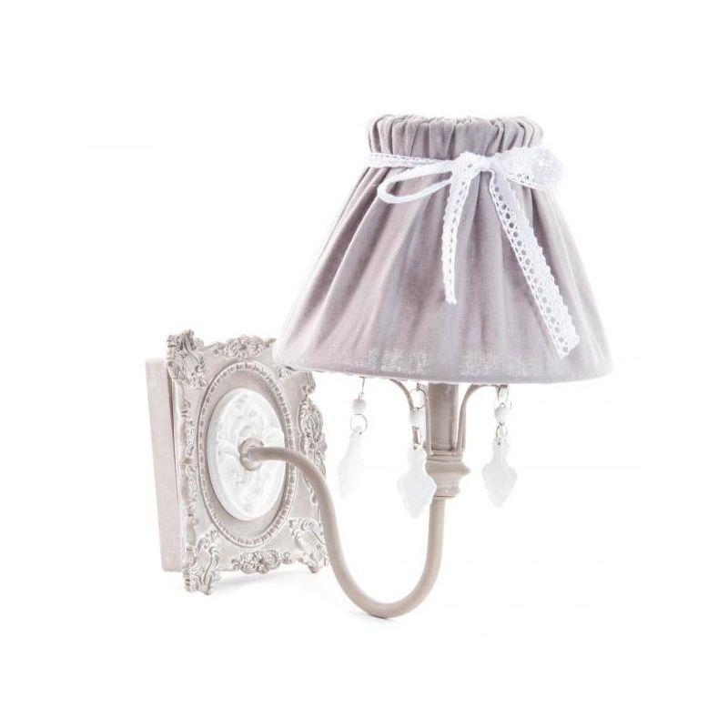 Applique da muro shabby chic romantic 2 lampadari lampade for Lampade shabby chic online
