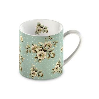 Tazza Mug in ceramica provenzale verde pastello online per colazione shabby chic a roma