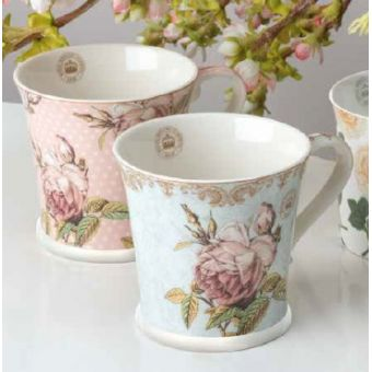 tazze mug ROYAL in stile vintage e country online ceramica bianca provenzale