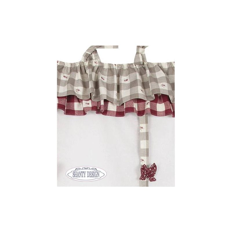 Tenda con mantovana shabby chic maris 1 tende for Tende country chic
