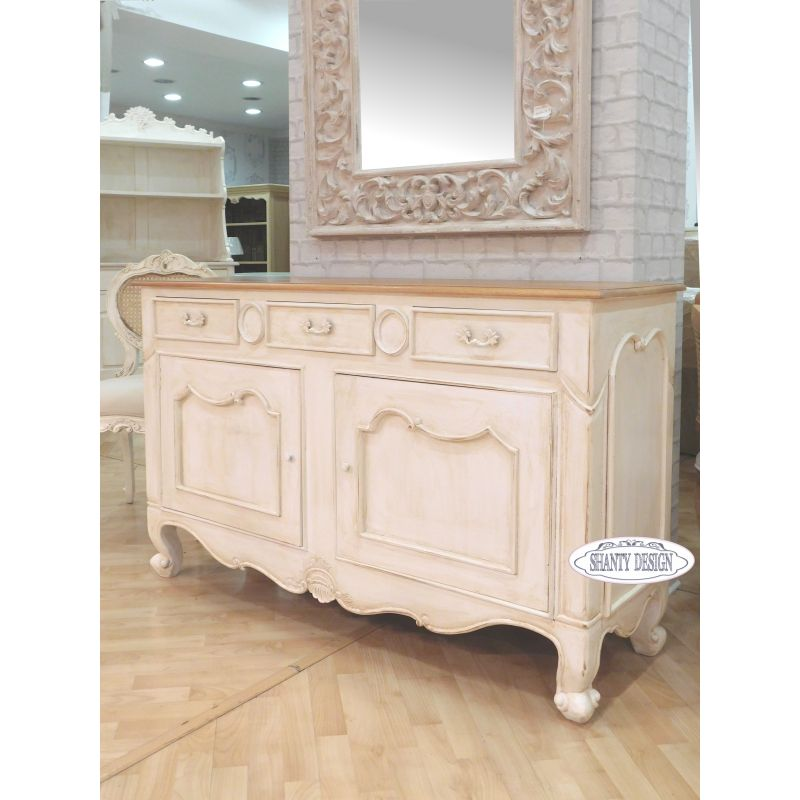 Buffet madia shabby chic clarissa 3 credenze buffet for Mobili in stile shabby chic