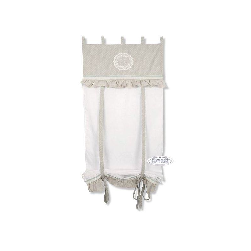 Tenda con mantovana shabby chic maris 3 tende - Tende camera da letto shabby ...