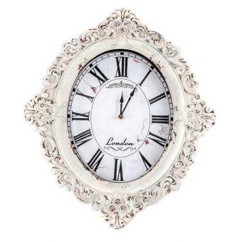 orologio da parate muro shabby chic in legno bianco decapato in stile country online