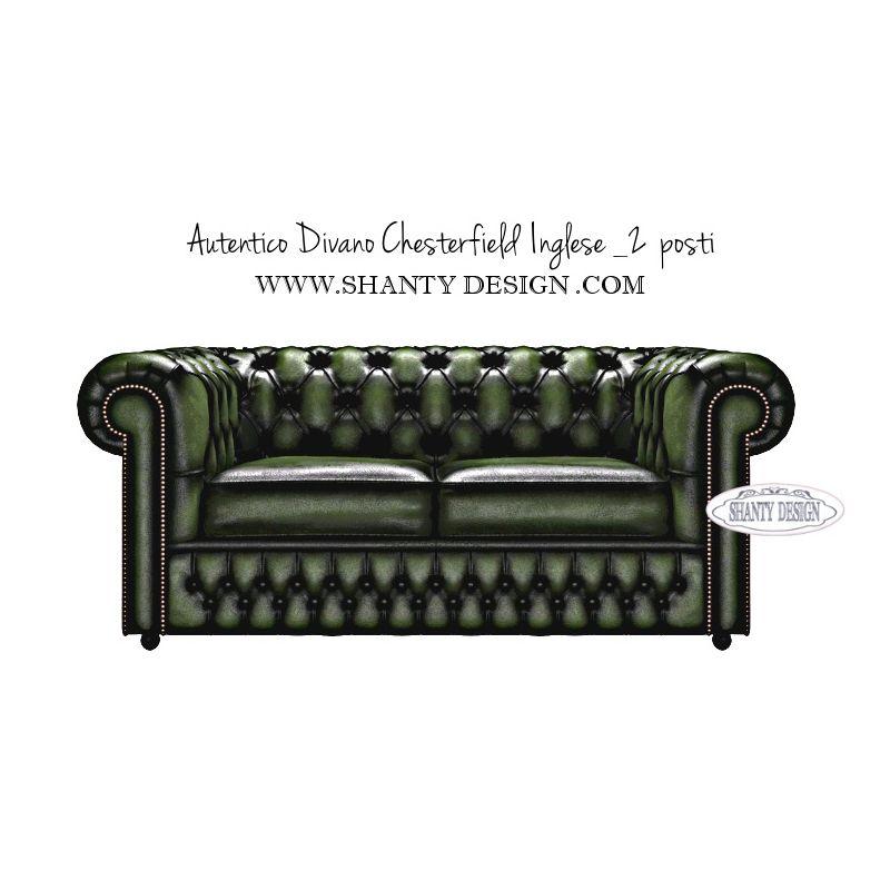 Divano chesterfield in pelle vintage roma verde divani e poltrone chesterfield inglesi shabby chic - Divano in inglese ...