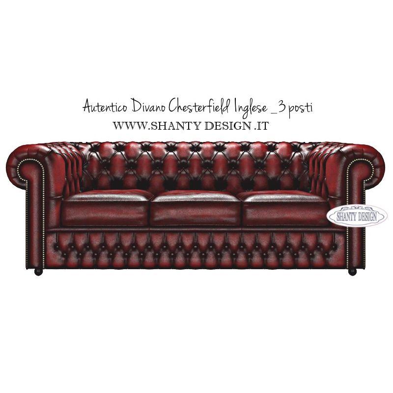 Divano chesterfield in pelle vintage roma rosso divani e for Divani in vera pelle