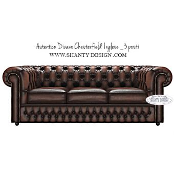 Divano Chesterfield in pelle Vintage ROMA MARRONE BROWN