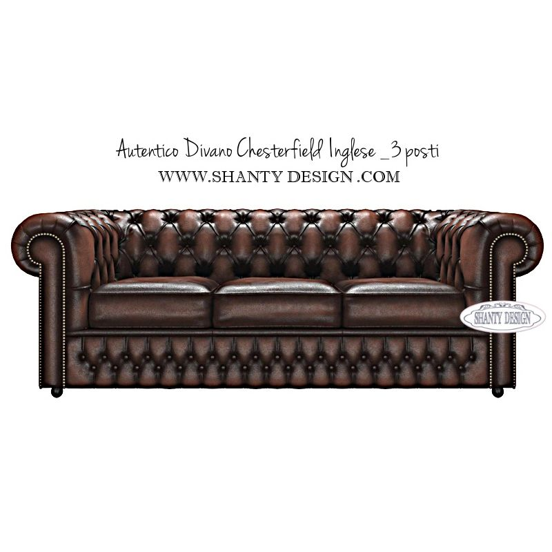 Divano In Pelle Marrone Vintage.Divano Chesterfield In Pelle Vintage Roma Marrone Brown Divani E Poltrone Chesterfield Inglesi Shabby Chic