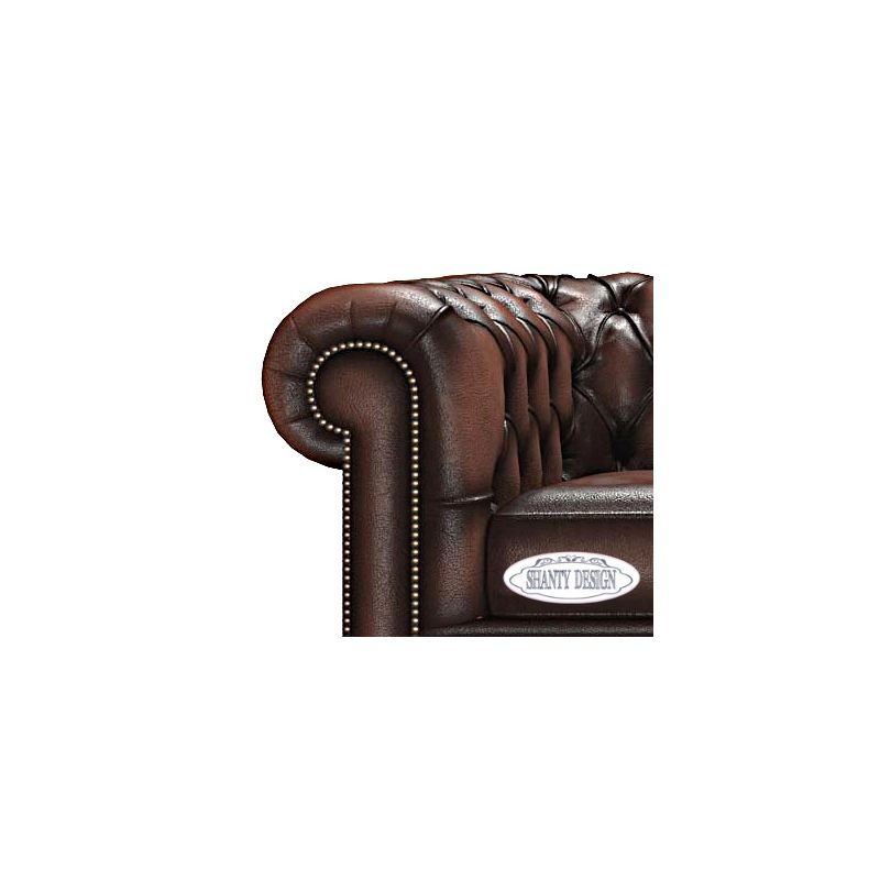 Divano Chesterfield in pelle Vintage ROMA MARRONE BROWN Divani e ...