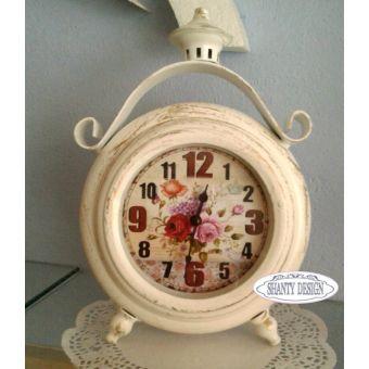 sveglia orologio in metallo decape stile shabby chic e provenzale online ROMANTIC 1