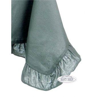 tovaglia rettangolare shabby chic Petrolio 150x220 in cotone tessuto country online ELISE 2.