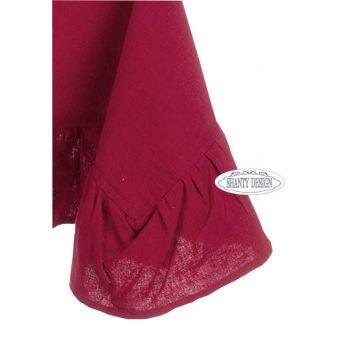 tovaglia rettangolare 150x270 in tessuto stile shabby chic  per tavola provenzale colore Rosso Marsale online ELISE 4.