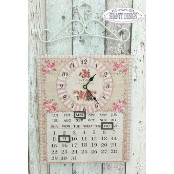 orologio da muro parete in ferro battuto shabby chic per cucina stile provenzale online ROSES 1