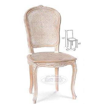 sedia in stile country per cucina shabby chic in paglia di vienna con fregi provenzali vendita online