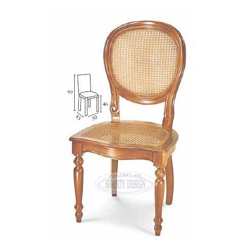 Sedia country con paglia di vienna dorian 3 sedie shabby chic for Sedia design paglia di vienna