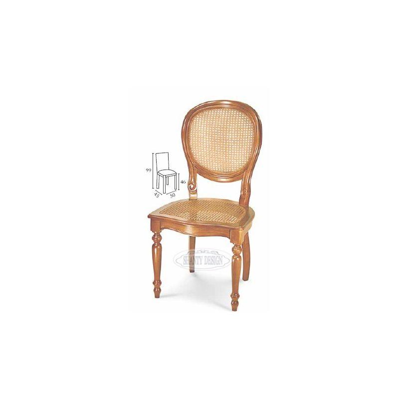 Sedia country con paglia di vienna dorian 3 sedie e for Poltrone country chic