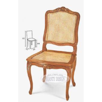 sedia capotavola in legno bianco provenzale con fregi shabby chic in paglia di vienna vendita online.jpg