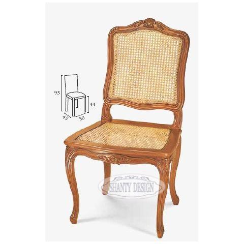 Sedia country con paglia di vienna dorian 2 sedie shabby chic for Sedie acciaio e paglia di vienna