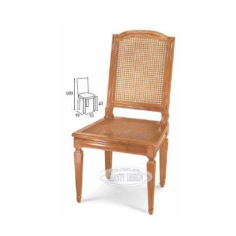 Sedia country con paglia di vienna dorian 4 sedie shabby chic for Sedia design paglia di vienna