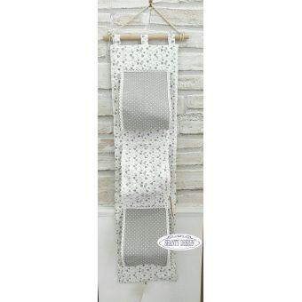Porta carta igienica tessuto cuori provenzale accessori for Accessori bagno da muro