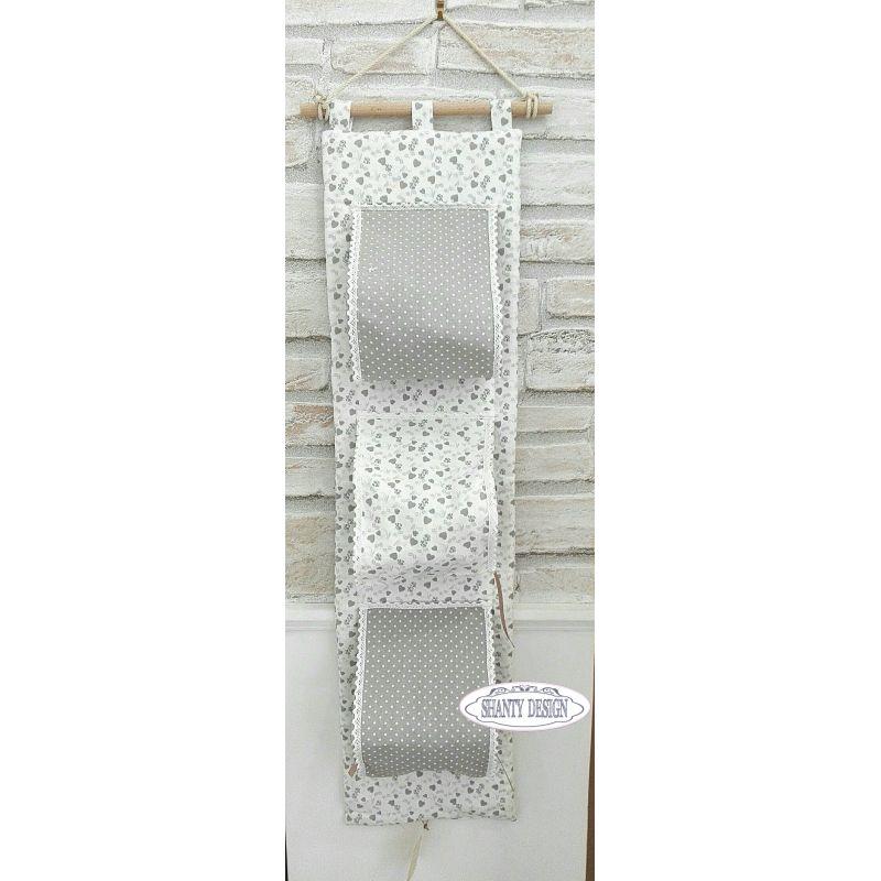 Porta carta igienica tessuto cuori provenzale accessori - Bagno provenzale shabby ...