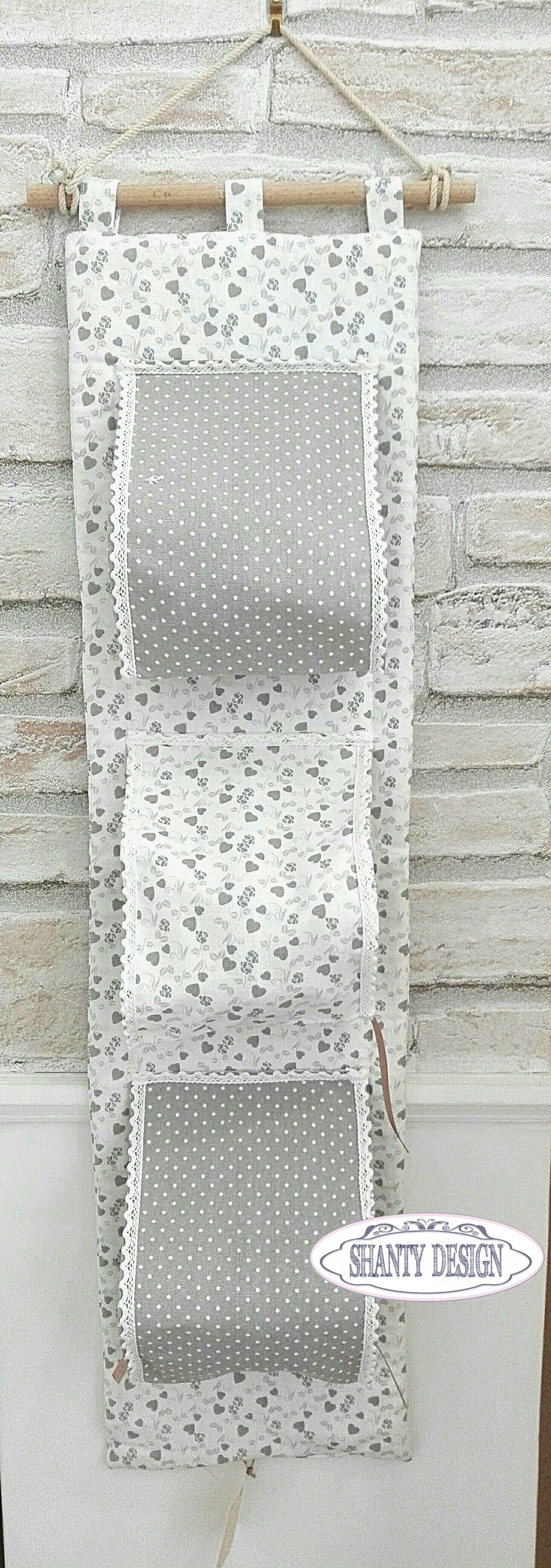 Porta carta igienica tessuto cuori provenzale accessori - Porta tovaglie bagno ...