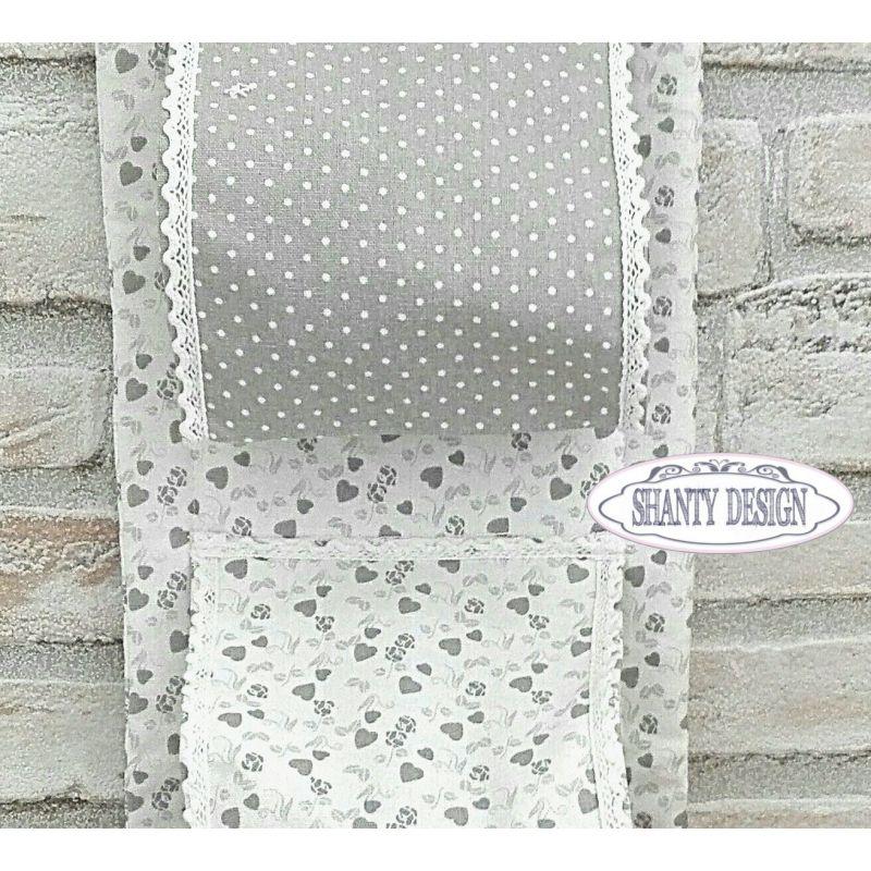 Porta carta igienica tessuto cuori provenzale accessori bagno shabby chic - Bagno shabby immagini ...