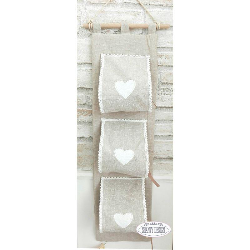 Porta carta igienica tessuto merlet provenzale accessori - Porta shabby chic ...