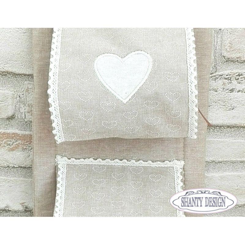 Porta carta igienica tessuto merlet provenzale accessori bagno shabby chic - Accessori bagno provenzale ...