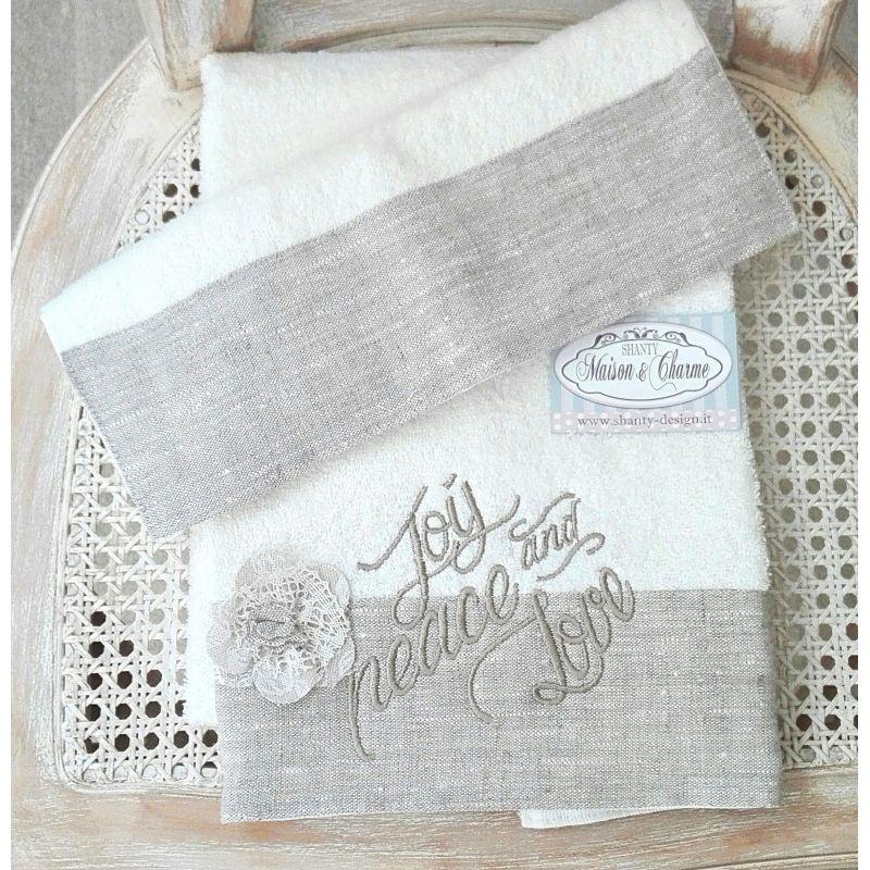Punto Croce Asciugamani Bagno: Asciugamani e asciugapiatti di iltelaiopovolaro over.