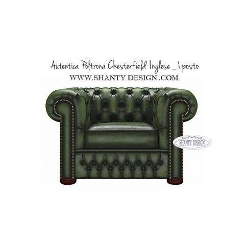 Poltrona chesterfield in pelle vintage roma verde divani e - Poltrone in pelle chesterfield ...