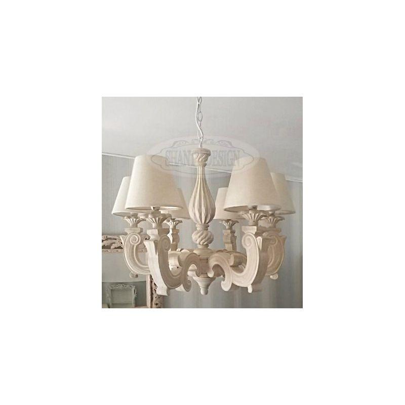 Lampadario shabby chic sonia 1 lampadari lampade for Lampade shabby chic online