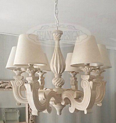 Lampadario shabby chic sonia 1 lampadari lampade for Lampadario legno leroy merlin