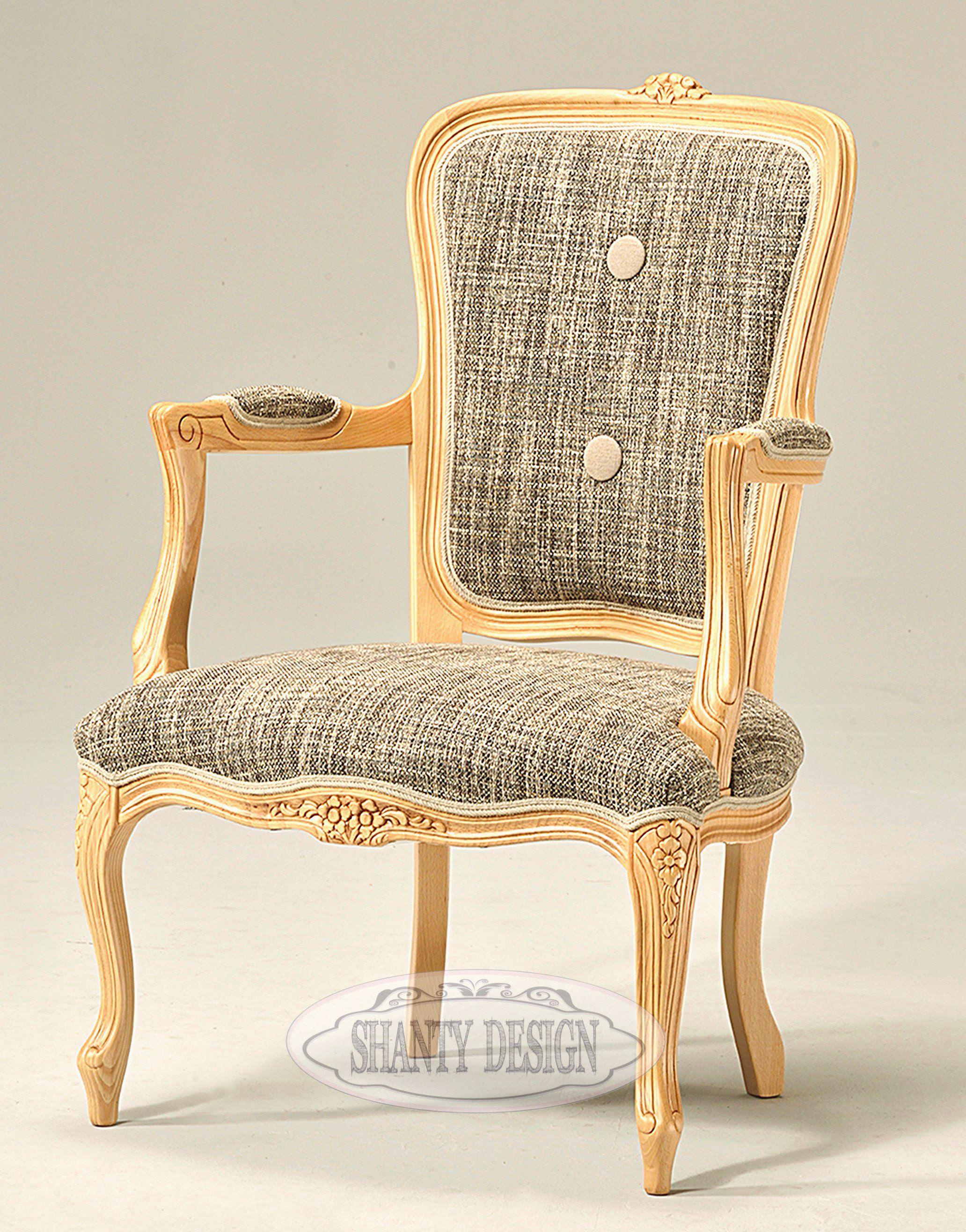 DIVANO & POLTRONA SHABBY in legno ed imbottita stile Provenzale ...