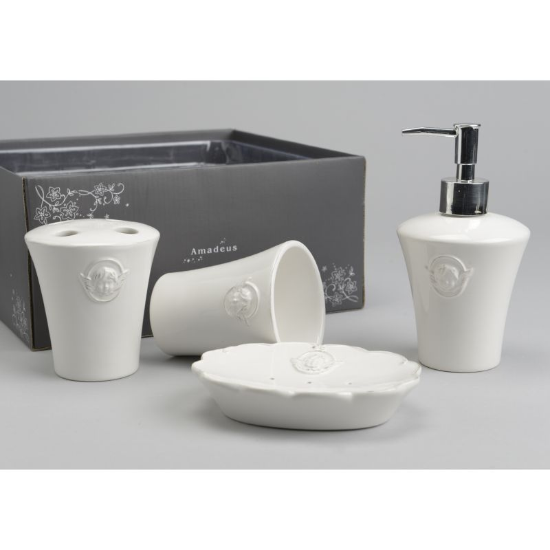 Set accessori bagno chanel shabby chic accessori bagno for Accessori bagno vintage