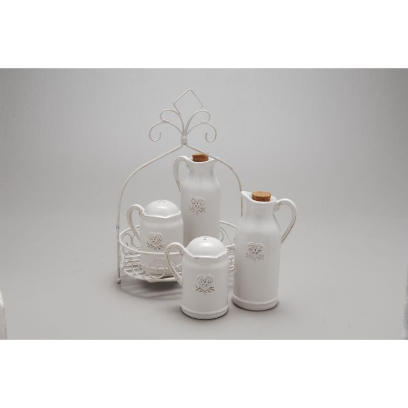 Set Olio Aceto Chanel Shabby Accessori Cucina