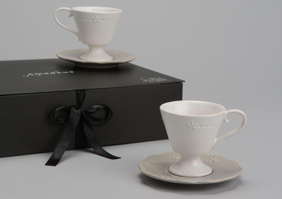 Set caffe vanity shabby chic bicchieri mug tazze