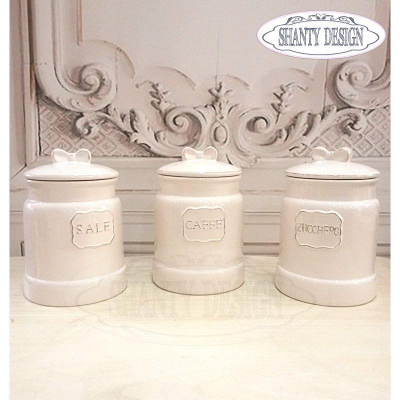 Barattolo zucchero caffe sale shabby chic revival for Barattoli alessi vendita online