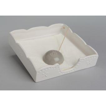 porta tovaglioli in ceramica bianca stile provenzale per cucina shabby chic online a roma
