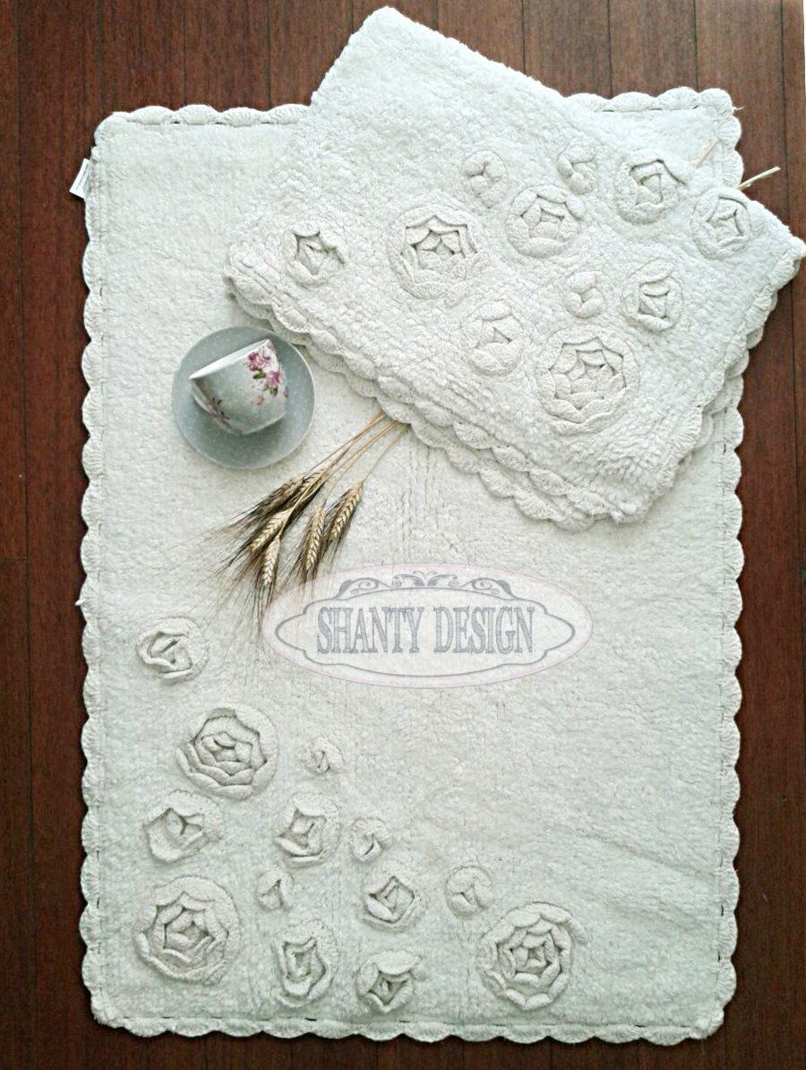 Tappeto bagno roma 1 shabby chic zerbini tappeti for Tappeti country chic