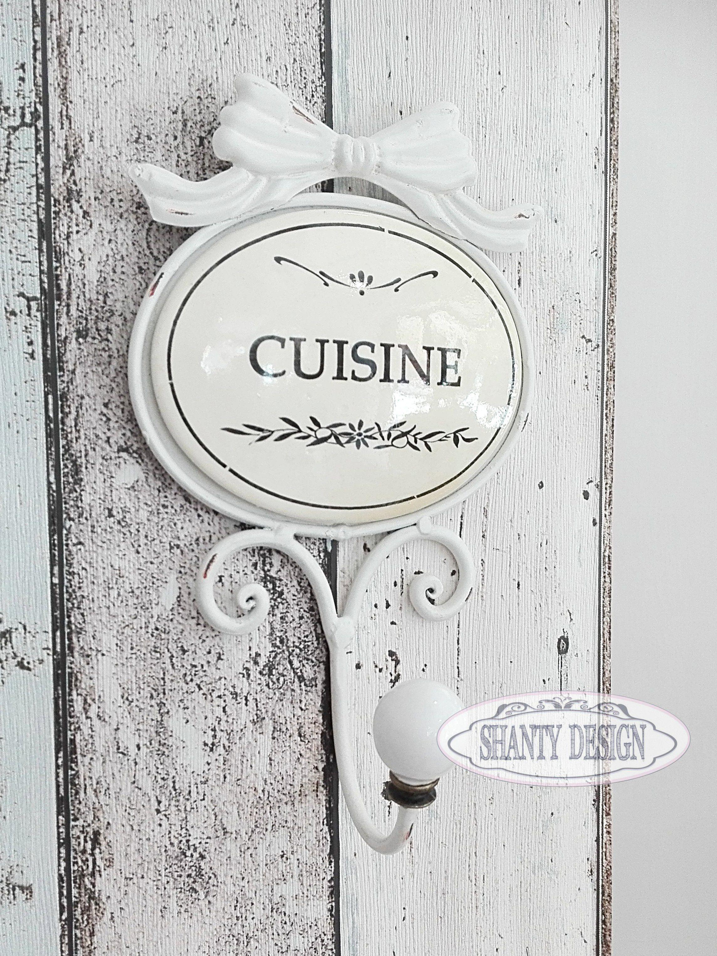 Gancio appendino cucina fiocco provenzale accessori cucina shabby chic - Accessori cucina shabby chic ...