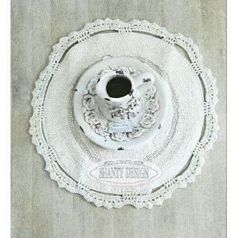 tappeto bagno tondo roma 7 in cotone e spugna shabby chic con bordo ad uncinetto online