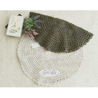 tappeto tondo bagno in stile shabby chic con lavorazione ad uncinetto crochet provenzale online