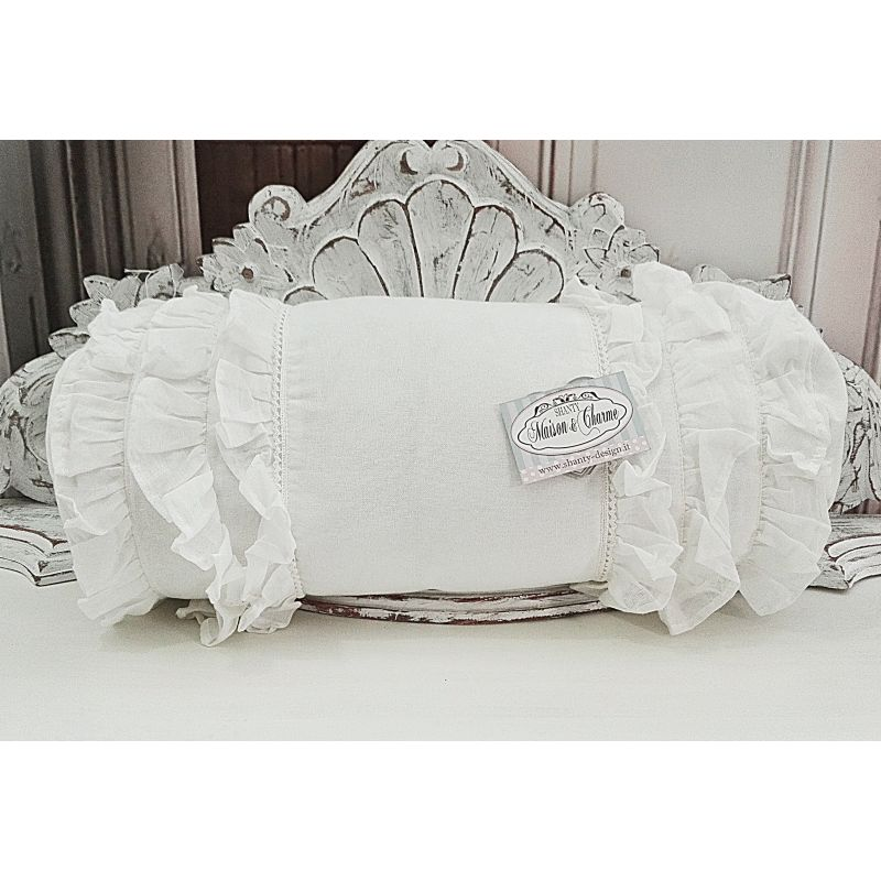 Cuscino sonia 1 shabby chic biancheria cucina tovaglie for Cuscini country chic
