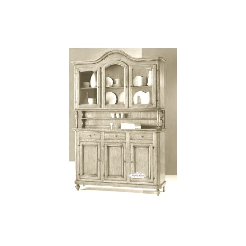 Credenza paris 3 country credenze buffet shabby chic for Credenza shabby chic online