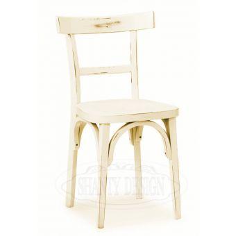 Sedia in legno ROMA 3 bianco decape per arredamento bar ristoranti beb hotel in stile vintage retro shabby online